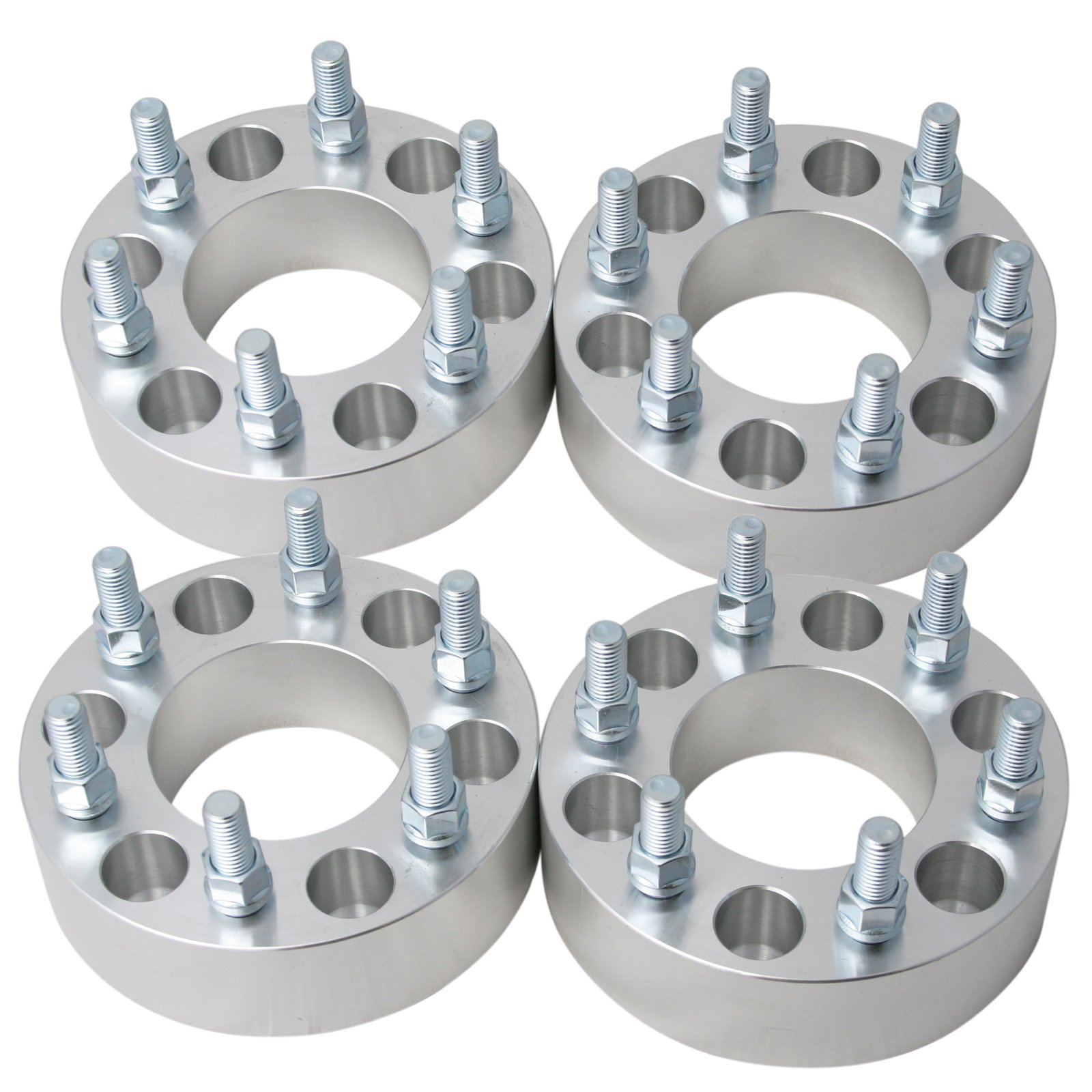 4pc 1.5'' Thick Wheel Spacers Adapters 6x135 to 6x5.5'' (CHANGES BOLT PATTERN) with 14x2 Coarse Studs for Ford Expedition F150 Lincoln Navigator (6x135 to 6x139.7) 38mm