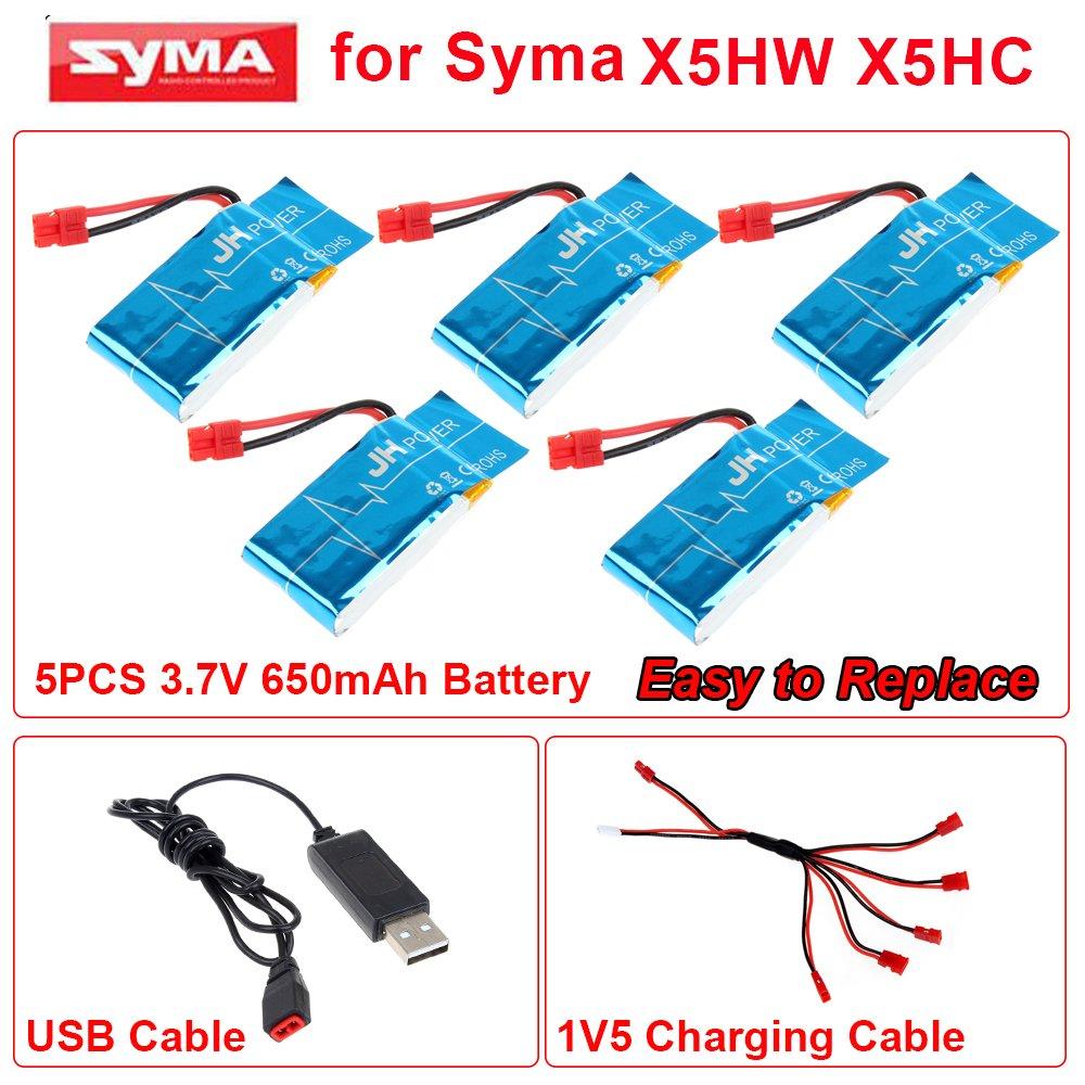 tomlov Syma x5hw x5hc FPV Wifi RC Quadcopter Drone repuestos 5pcs ...