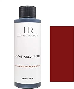 Leather Restore Leather Color Repair, Dark Red 4 OZ - Repair, Recolor and Restore Couch, Furniture, Auto Interior, Car Seats, Vinyl and Shoes