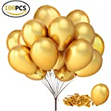 """Fecedy 100pcs/pack 12"""" Gold Shiny Balloons for party Decoration 12 inches"""