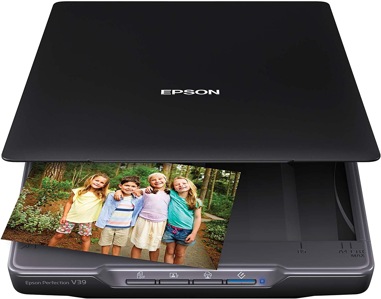 Amazon Com Epson Perfection V39 Color Photo Document Scanner With Scan To Cloud 4800 Optical Resolution Black Electronics