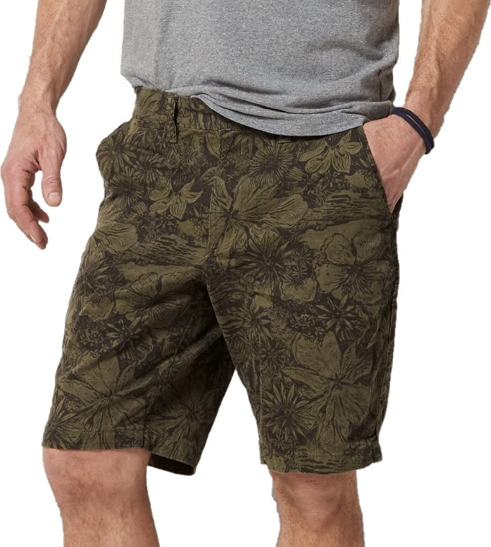 73a05d0391 SONOMA Men's Goods for Life Flexwear Fashion Flat-Front Shorts (Tropical  Forest Green, 40) at Amazon Men's Clothing store: