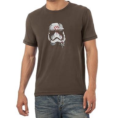 Texlab Signed Trooper Painting - Herren T-Shirt, Größe S, Braun
