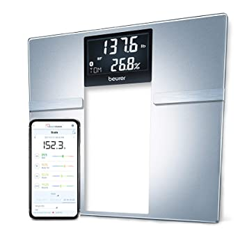 0a61b70960e Beurer Bluetooth Body Fat Scale Smart BMI, User Recognition Digital  Bathroom Wireless Weight Scale,