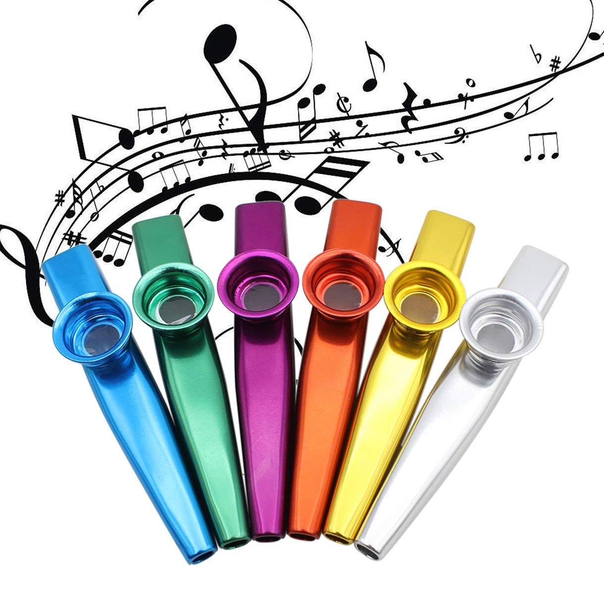Oro Metallo Kazoos Strumenti musicali Flauti Diaframma Bocca Kazoos Strumenti musicali Buon compagno per chitarra