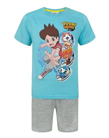 Yo-Kai Watch - Pijama dos piezas - Manga corta - para niño azul azul: Amazon.es: Ropa y accesorios