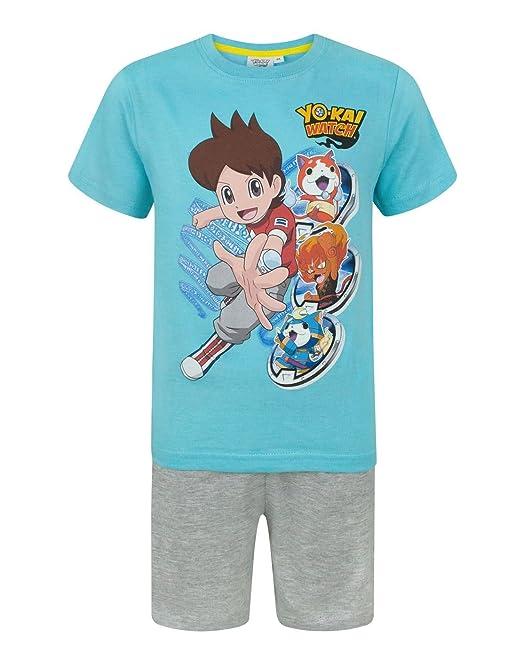 Yo-Kai Watch - Pijama dos piezas - Manga corta - para niño azul azul