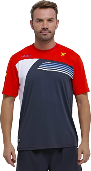DROP SHOT Invictus Camiseta Técnica de Tenis, Hombre: Amazon.es ...