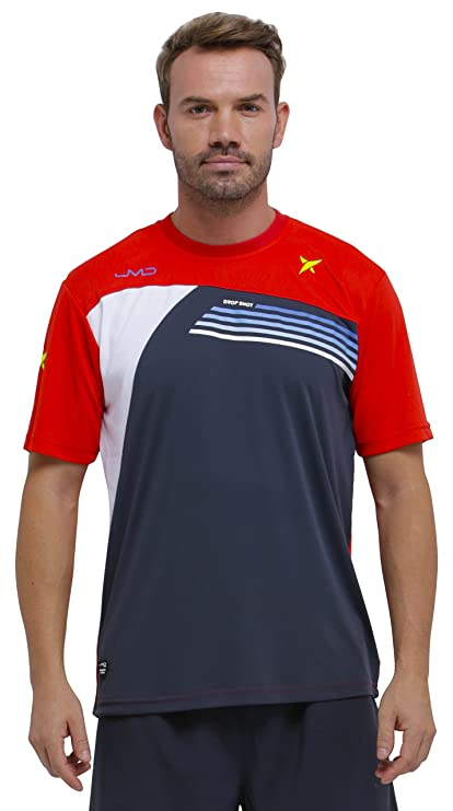 DROP SHOT Invictus Camiseta Técnica de Tenis, Hombre: Amazon ...
