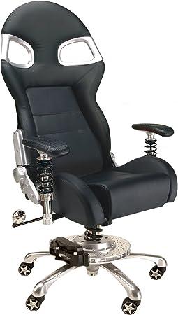 Amazon Com Pitstop Furniture F08000b Lxe Office Chair Black Automotive