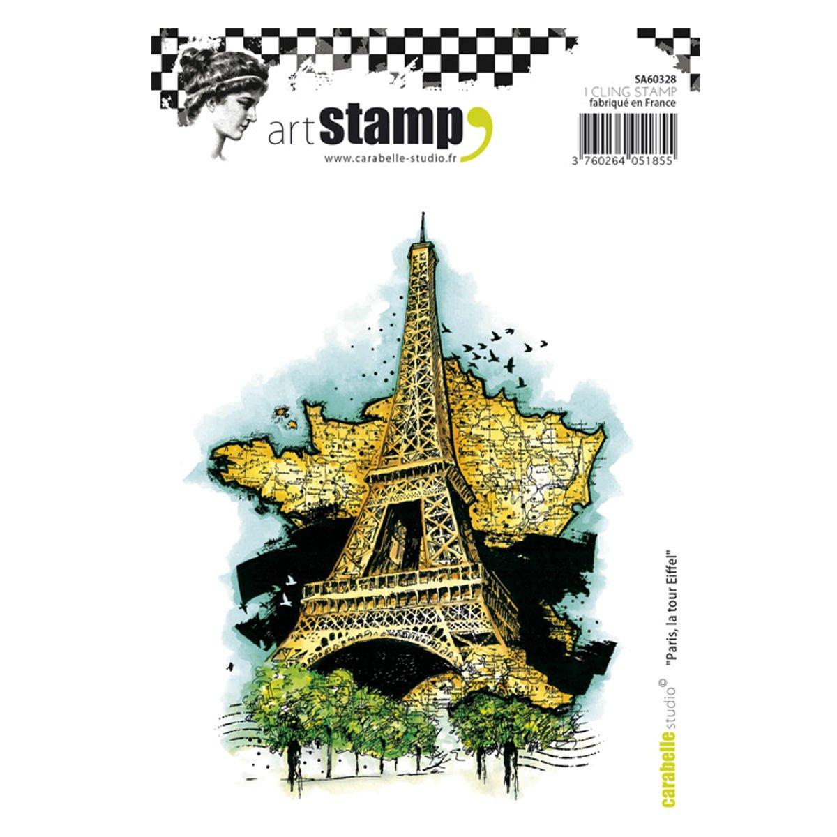 Carabelle Studio Eiffel Tower Paris Cling Stamp A6