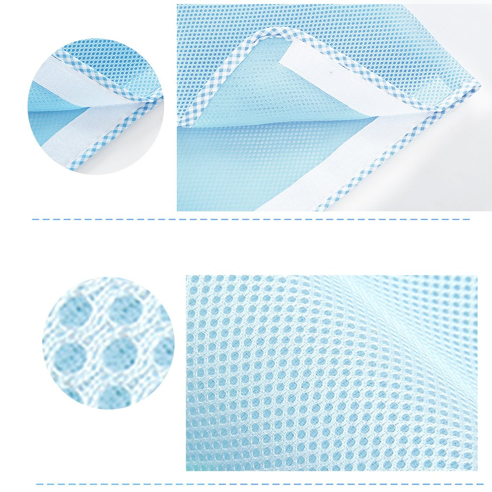 Blue Luerme Baby Breathable Mesh Crib Liner Detachable/Sandwich/Crib/Bumper Anti-Collision/Safety Bedding/Kit Prevents Babies from Getting Stuck in Crib Slats
