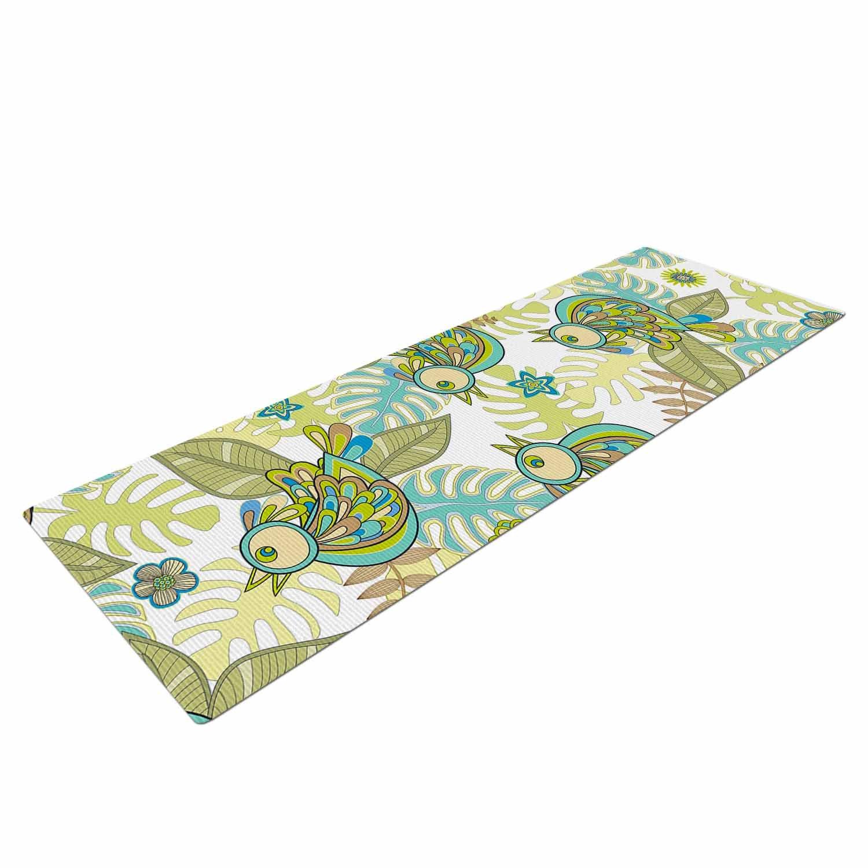 Amazon.com : Kess InHouse Julia Grifol Summer Birds Green ...