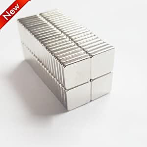 ZHYF Magnetics 10x10x2mm 45-Piece Rectangular Magnets Ideal for refrigerators, Handicraft Projects, whiteboards, DIY Projects, Office Magnets