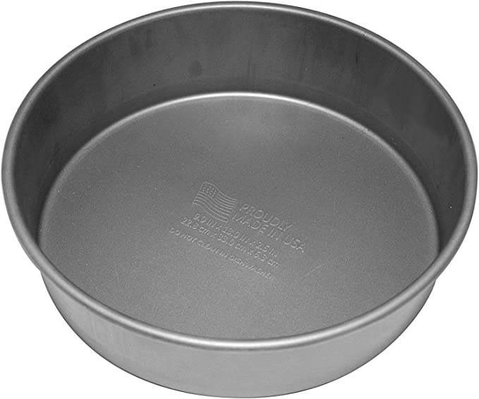 "OvenStuff Non-Stick Round Cake Pan 2 Piece Set 9/"" Silver"