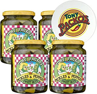 product image for Tony Packo's (4-Pack) Sweet Hot Pickles and Peppers, 24 Ounce - 4 Jars with FREE Jar Opener
