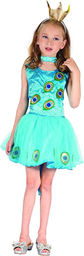 Vegaoo - Disfraz Pavo Real niña - L 10-12 años (130-140 cm ...