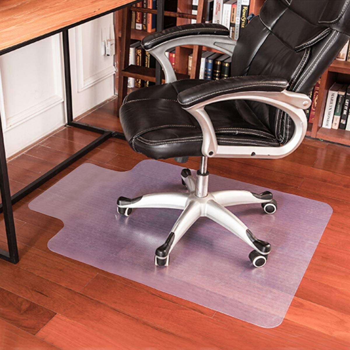 Anti-Slip PVC Floor Protector Mats for Office Home Happygrill 48 x 36 Chair Mat for Hardwood Floor