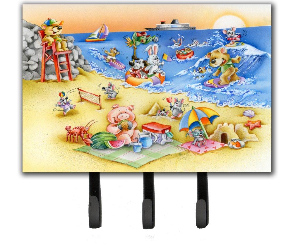 Caroline's Treasures APH6822TH68 Animals Swimming At The Beach Leash Or Key Holder, Triple, Multicolor
