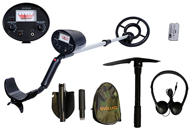 Visua – Detector de metales ligero, con gran bobina de búsqueda impermeable concéntrica, VSMD45: Amazon.es: Electrónica