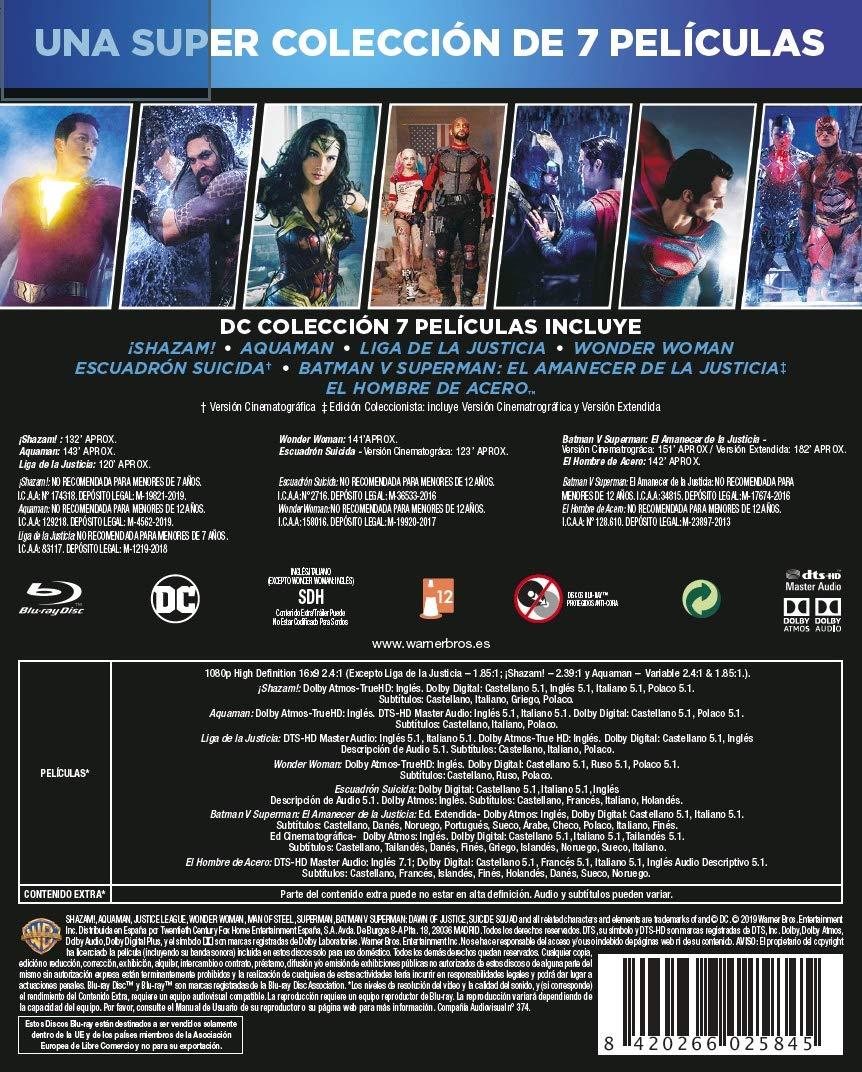 Dc Colección 7 Películas (2019) Blu-Ray [Blu-ray]: Amazon.es ...