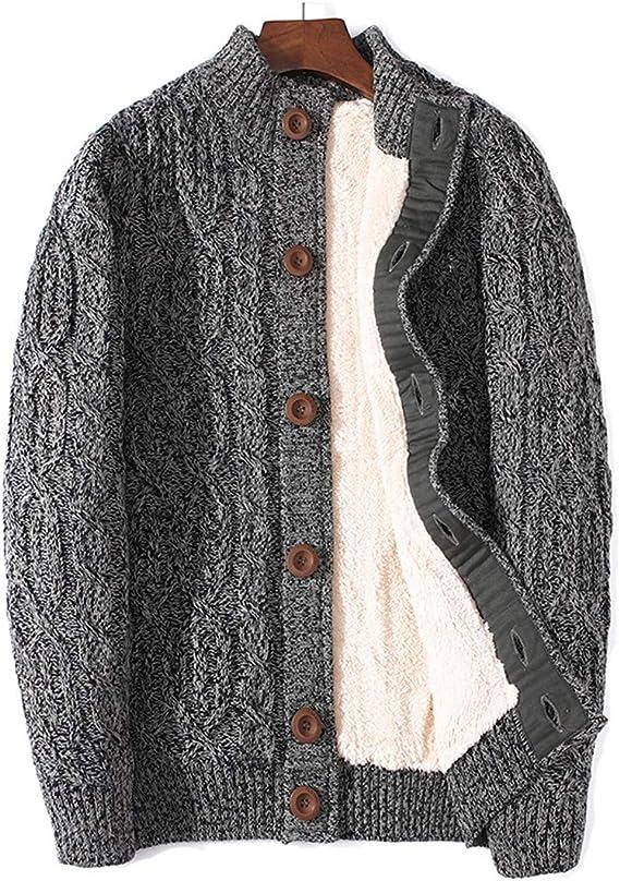 Winter Cardigan Male Thicken Warm Wool Cashmere Sweater Men