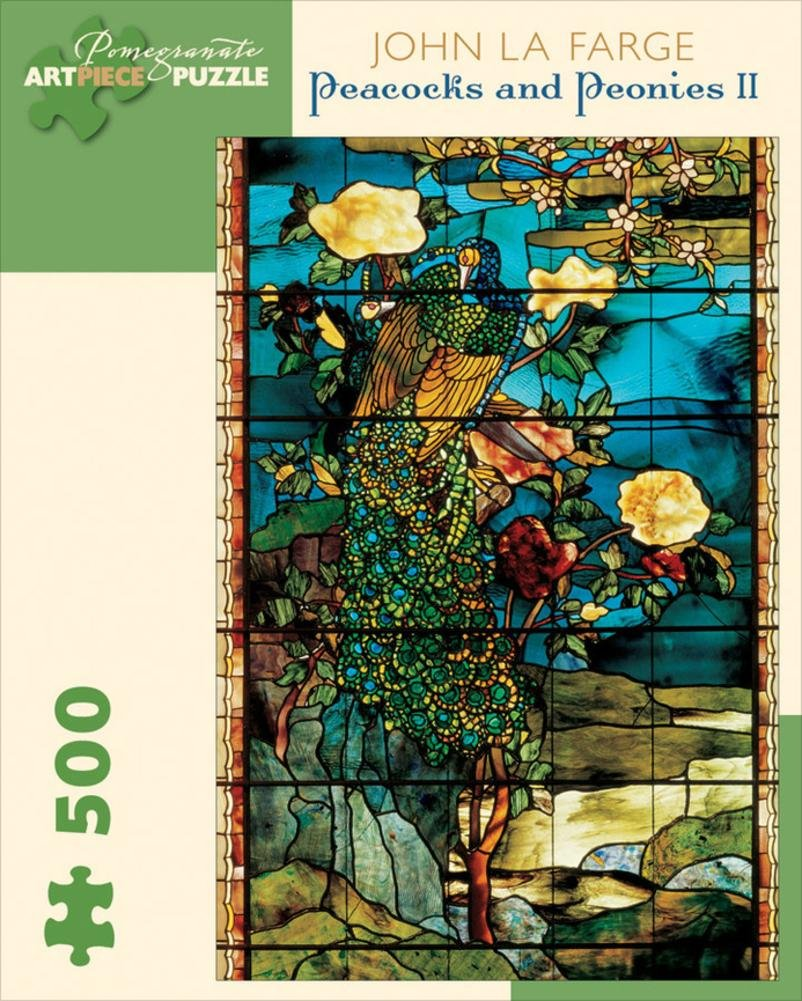 Lafarge//Peacocks /& Peonies 500 Piece Puzzle Jigsaw Puzzle 9 x 11in Pomegranate