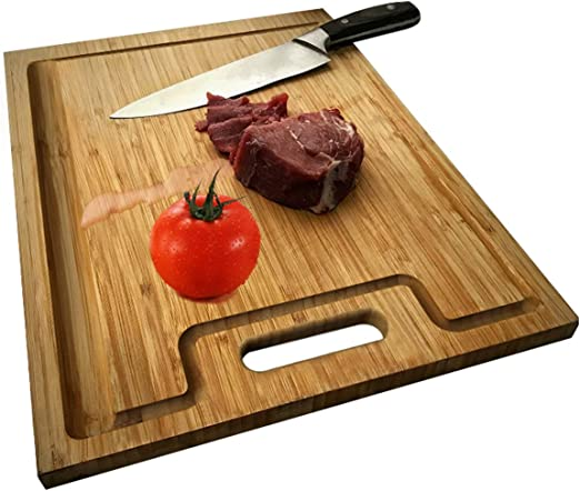 3 Moso Bamboo Cutting Board Kitchen Chopping Set Food Prep Meat Vegetable Bread