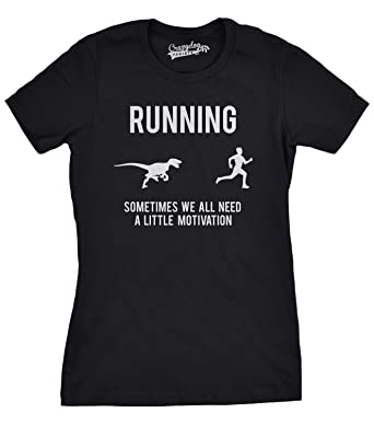Amazon.com: Womens Running Motivation T shirt Funny Running T ...
