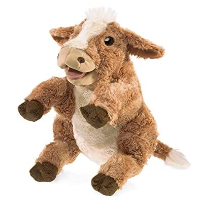 Folkmanis Brown Cow Hand Puppet: Toys & Games