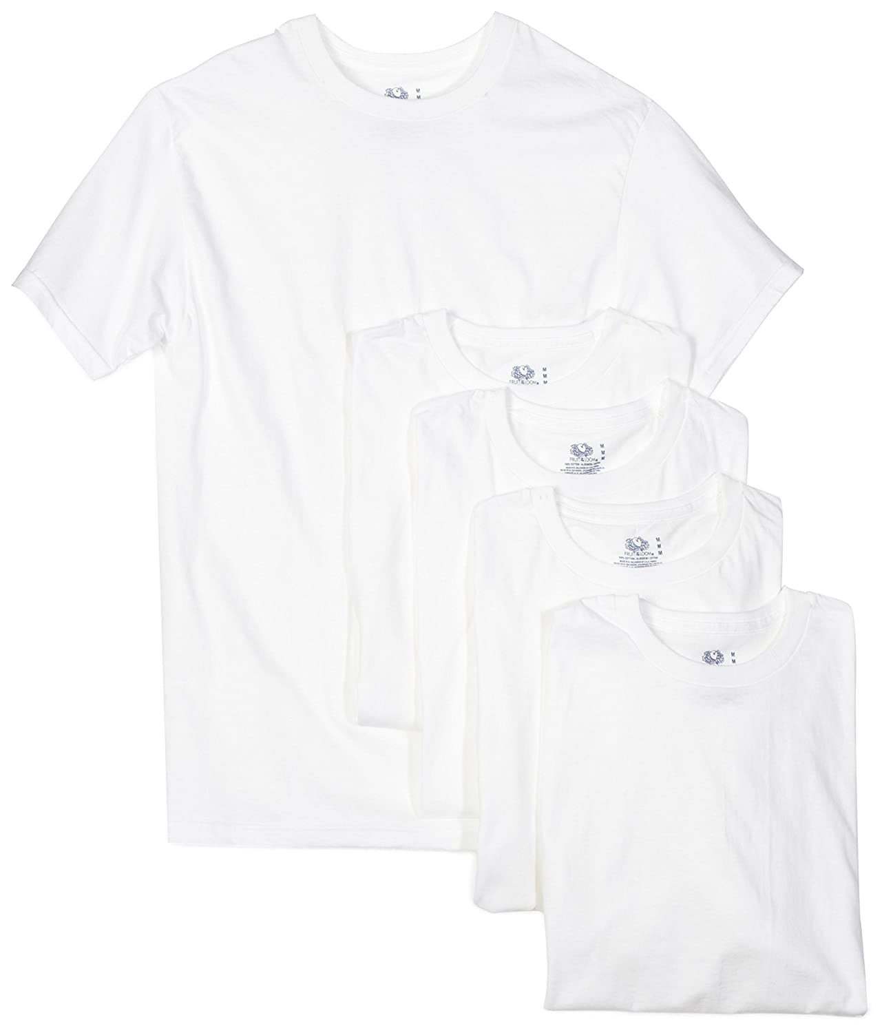 adb54c93f4c2 Amazon.com  Fruit of the Loom Men s Crew-Neck T-Shirt 5-Pack  Clothing