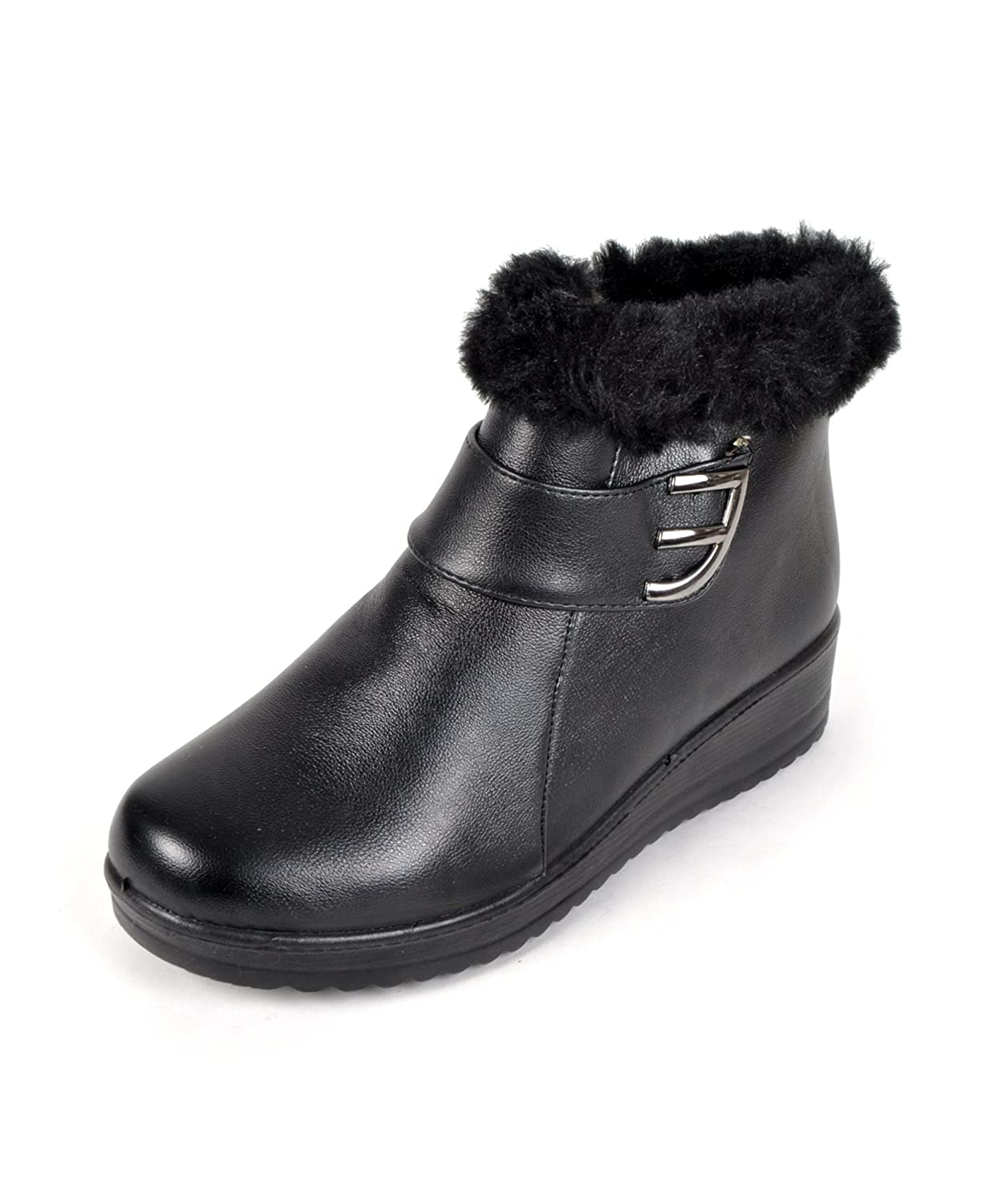 """E"" for Elegance Faux Fur Snow Boots"