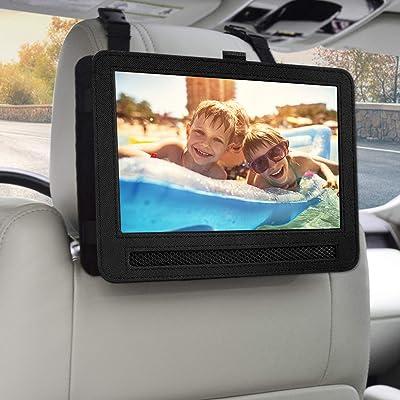 Car Headrest Mount Holder Strap Case for Swivel & Flip Style Portable DVD Player (10-10.5 inch): Car Electronics