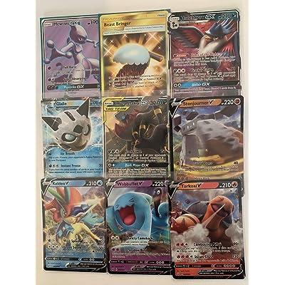 POK. TCG: 5 V/VMAX/GX/EX Cards (5 Cards): Toys & Games