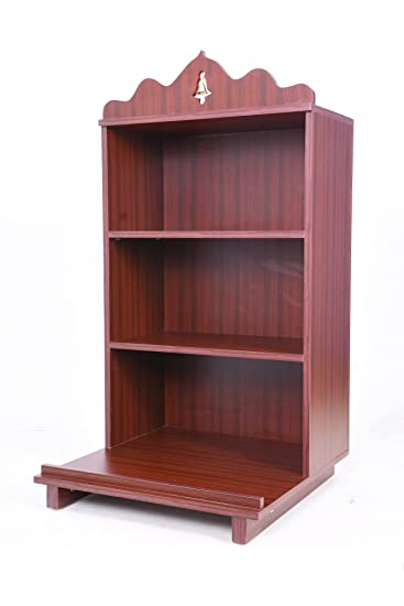 Generic Multi Ply Puja Mandir Open Shelf Rosewood 24 Inch X 24 Inch X 53 Inch Amazon In Home Kitchen