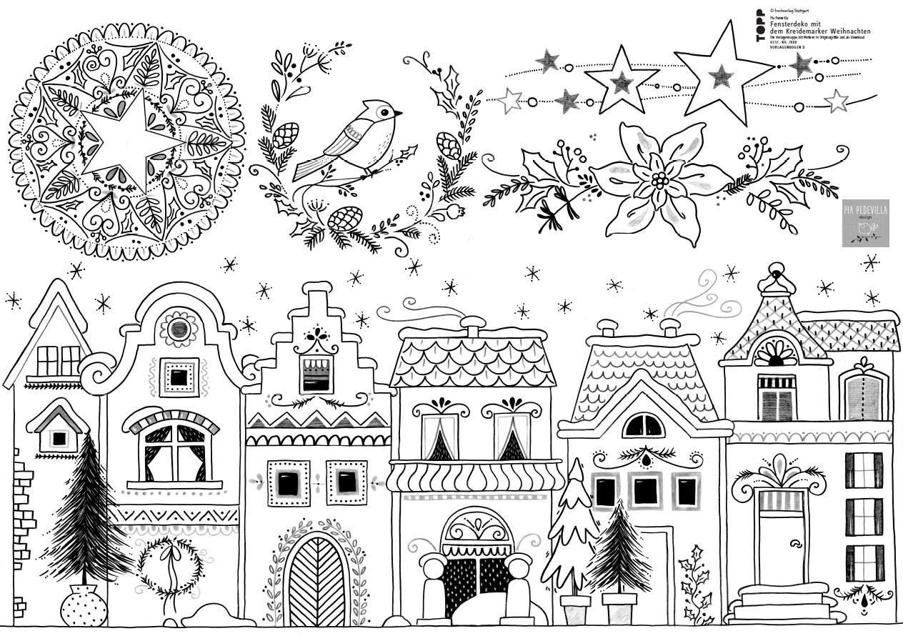 Buch Vorlagenmappe Kreidemarker Weihnachten 0