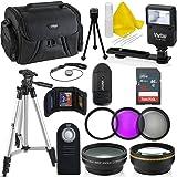 Professional 55MM Accessory Bundle Kit For Nikon D3400 D5600 D3300 AF-P & DSLR Cameras , 15 Accessories for Nikon