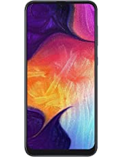 Samsung Galaxy A50 (64GB, 4GB RAM) 6.4' Display, 25MP, Triple Camera, 4G LTE Dual SIM, Factory Unlocked (International Version, Black)