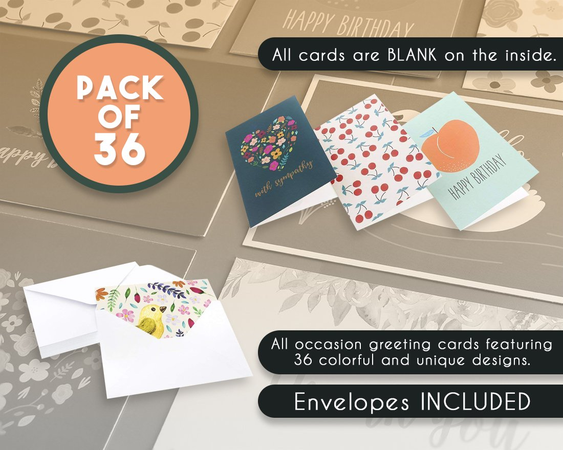 Amazon Assorted Greeting Cards 36 Pack All Occasion Cards