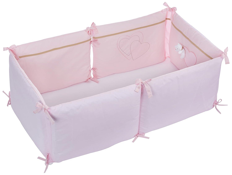 tour de lit complet bébé Câlin Câline Tour Lit Complet Modulable Juliette Rose: Amazon.fr  tour de lit complet bébé