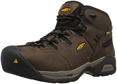 1fb4157910 Keen Utility Men's Detroit XT Mid Steel Toe Waterproof Industrial Boot,  Cascade Brown/Bronze