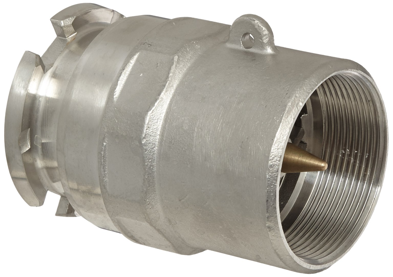 Dixon BA32-200 Stainless Steel Bayonet Style Dry Disconnect Tank Truck Fitting, Adapter with Viton Seal, 2'' Coupling x 2'' NPT Female
