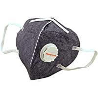 Honeywell PM 2.5 Anti Pollution Foldable Face Mask with Easy Exhalation Valve (Box of 5, Dark Blue Printed)