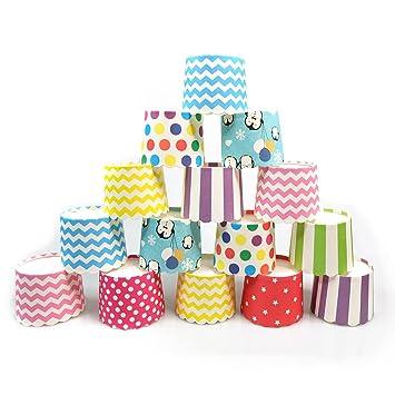 Keysui Moldes de papel para magdalenas, 100 unidades, varios colores, ideales para fiestas y celebraciones: Amazon.es: Hogar