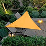 Sun shades sail,Garden Patio Balcony Awning, HDPE breathable shade dispenser,Triangle Water Resistant Suitable for garden balcony terrace (3 x 3 x 3 m, Orange)