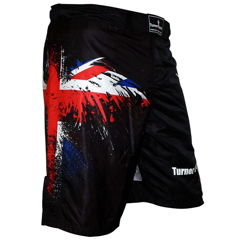 TurnerMAX MMAショーツEagle UKフラグMaritalアート B008HF97PE  X-Large