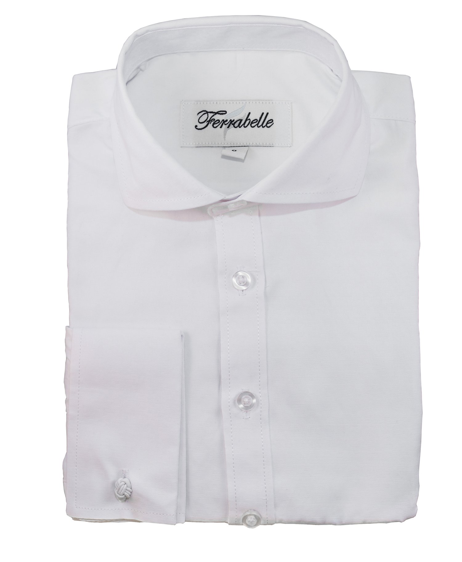 Ferrabelle Boys Shirts for Suit Formal Dress Button Down Long Sleeve with French Cuff and Cufflinks White 14