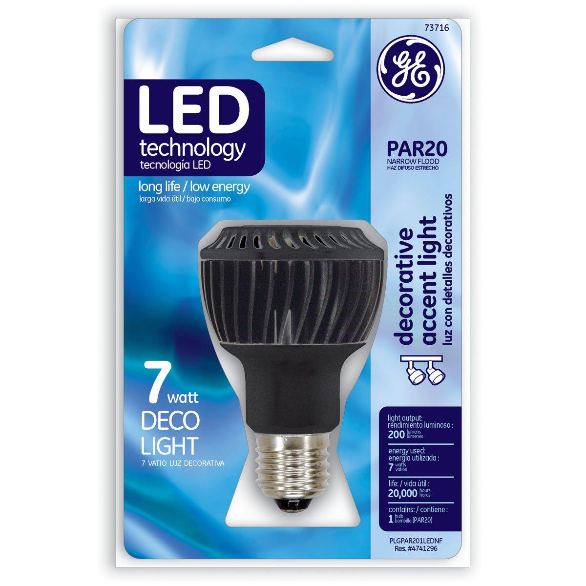 G E Lighting Ge 7W Par20 Led Bulb 73716 Light Bulbs Par GE Lighting 74439