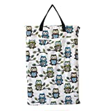 Amazon Price History for:Large Hanging Wet/dry Cloth Diaper Pail Bag for Reusable Diapers or Laundry (Owl&tree)