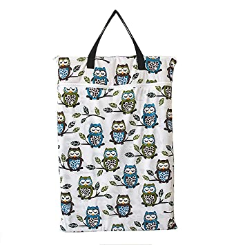 Baby Protable Nappy Washable Nappy Wet Dry Cloth Zipper Waterproof Diaper Bag ZJ